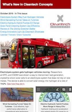 Cleantech Concepts newsletter