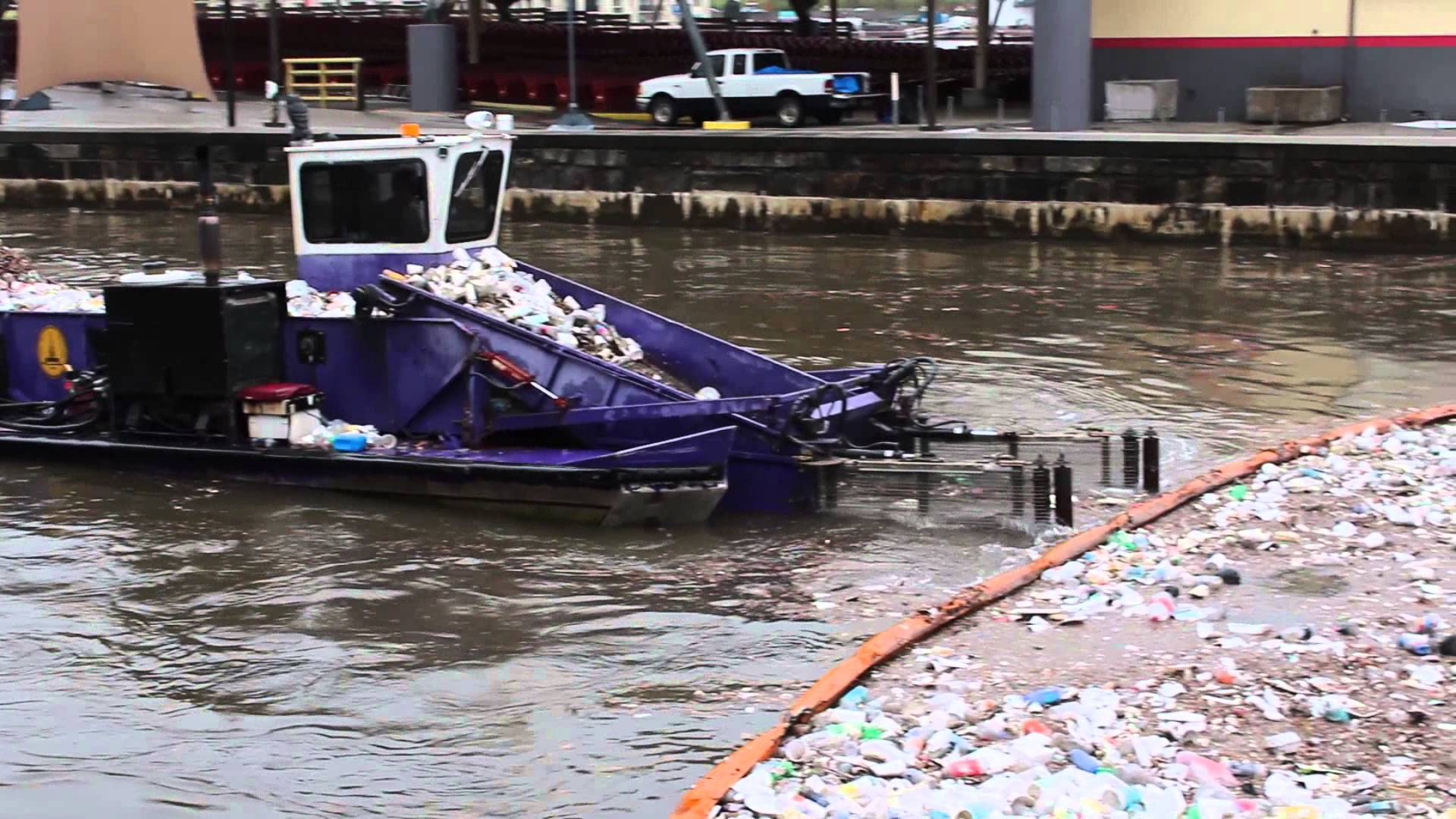 harbor marina plastics clean up