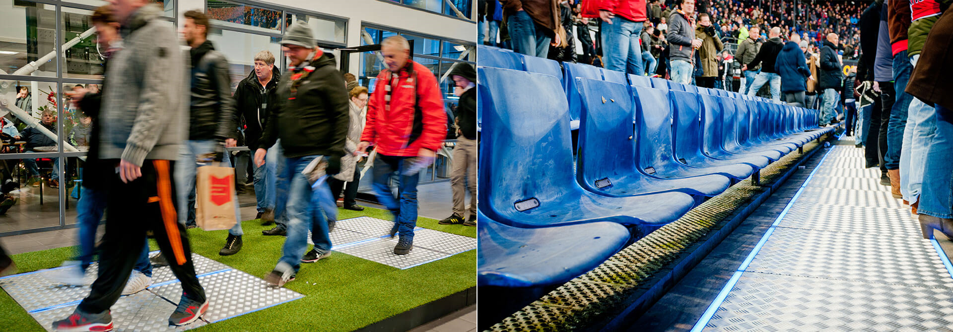 Dance Power Harvesting Movement Energy Out In The Stadium Battery Is Source Of Electricity Our Floors Installation At Dekuip Soccer Rotterdam Were Installed Main Entrance And Front Maastribune Section