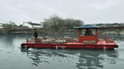 electric boat for trash clean-up